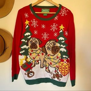 Pug Christmas Sweater